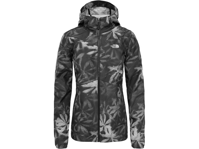 The North Face Flyweight Hoodie Damen tnf black exploded lupine print
